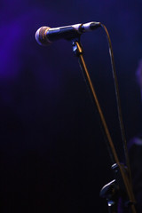 Microphone in stage lights