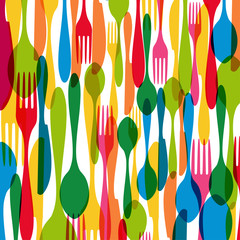 Cutlery seamless pattern illustration
