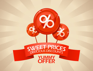 Sweet prices, delicious discounts design template