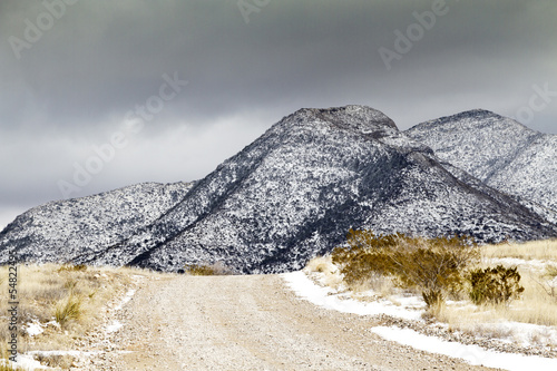 Winter Snow in Arizona's Dragoon Mountains