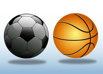 Futbol  ve Basketbol  topu