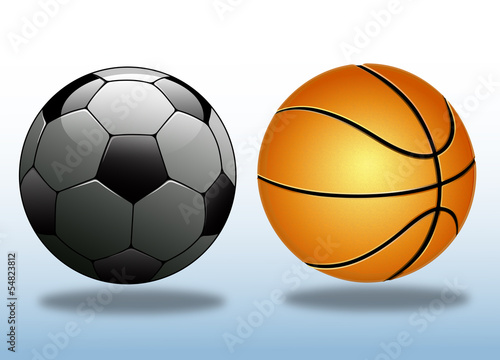 Futbol  ve Basketbol  topu
