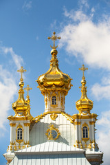 Golden cupola in Summer Gardens (Peterhof, Russia)