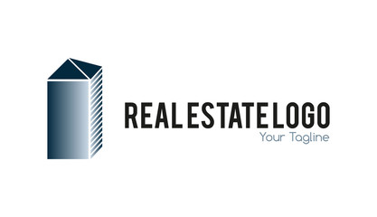 Real estate logo metallic