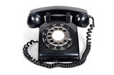 isolated vintage telephone on white background