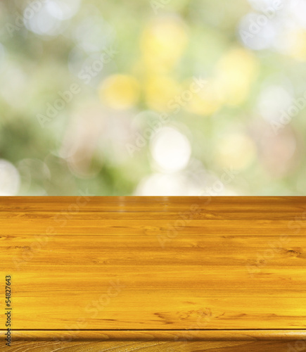 table et fond nature