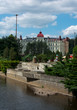 Karlovy Vary, central around river