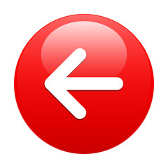 button Left arrow red