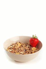 Cereal muesli with strawberry