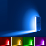 Light in a room through the open door; RGB; Eps8; No Mesh