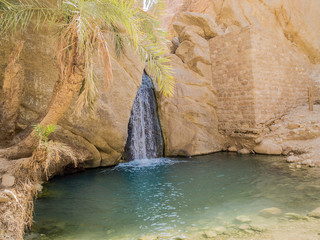 mountain oasis Chebika in Sahara desert, Tunisia