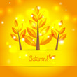 Autumn tree background with autumn leaves