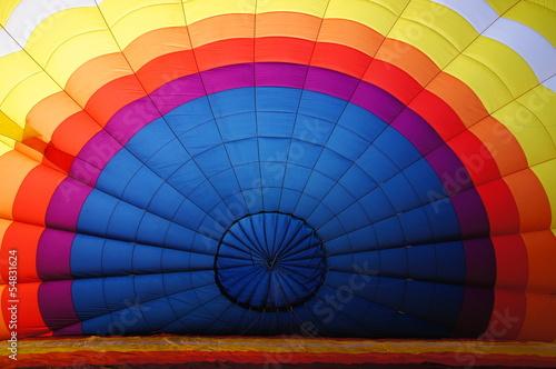 Staande foto Ballon Gonflement d'une montgolfière