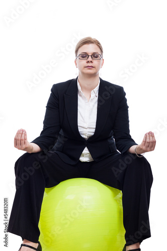 Business woman meditation
