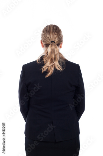 Rear view of businesswoman