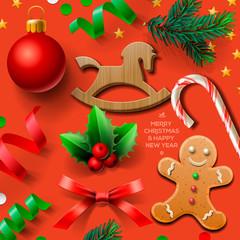 Set of Christmas element, vector Eps10 illustration.