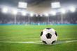 Fußballstadion mit Fußball - 54832608