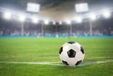 Fußballstadion mit Fußball