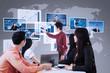 Business presentation using futuristic interface