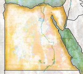 Cartina dell'Egitto, effetto anticato, pergamena