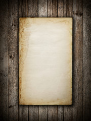 Old book on wood background