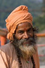 Indian sadhu (holy man).  India.