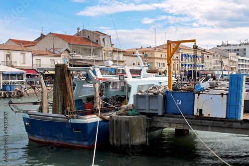 Aluminium bateau de pêche à quai