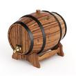 Isolated wine barrel