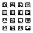 Menu settings tools icons set