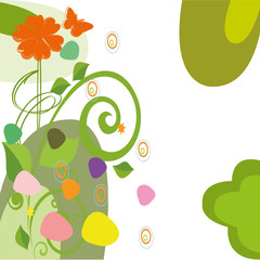 dessin flora