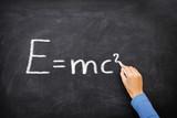 physics science formula equation blackboard, E=mc² poster