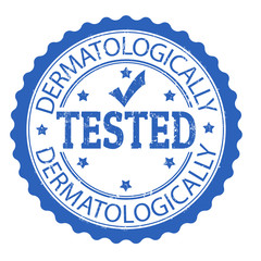 Dermatologically tested stamp