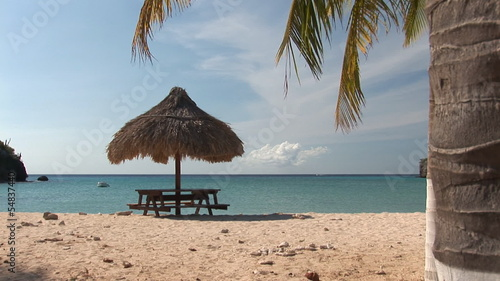 Tropical beach on Curacao