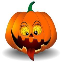Funny Scary Halloween Pumpkin Cartoon-Zucca Feroce