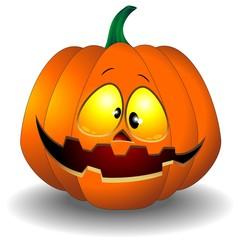 Funny Halloween Pumpkin Cartoon-Zucca Buffa