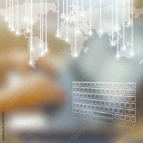 Technology business concept background