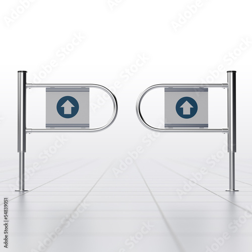 revolving entrance in a mall or mart