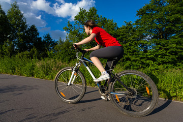 Healthy lifestyle - girl biking