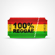 Постер, плакат: ticket v3 100% reggae I