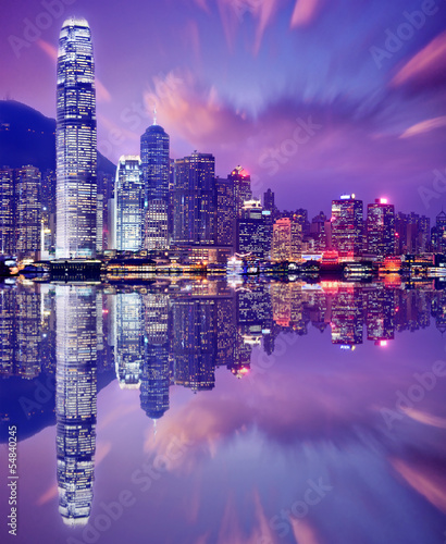 Foto op Canvas Hong-Kong Hong Kong Skyline