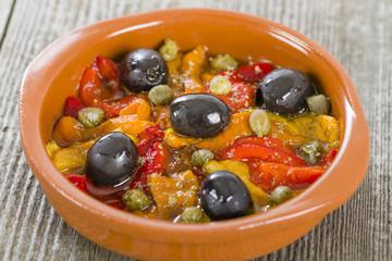 Pimientos Asados - Spanish roasted pepper salad