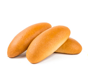 bun for hot dog isolated