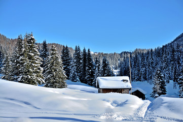 Baita tra la neve