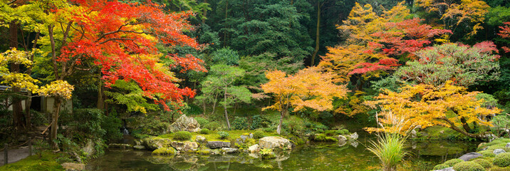 Japanischer Garten im Herbst
