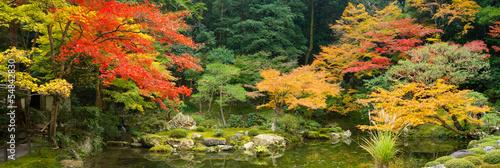 canvas print picture Japanischer Garten im Herbst