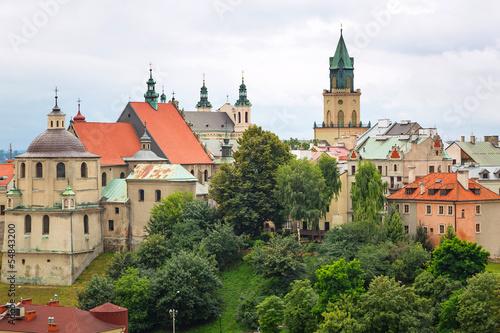 Zdjęcia na płótnie, fototapety na wymiar, obrazy na ścianę : Beautiful architecture of the old town in Lublin, Poland
