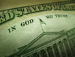 American Dollar In God We Trust Inscription