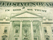 American Dollar In God We Trust Inscription Highlighted