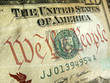 American Dollar with We The People Inscription Highlighted