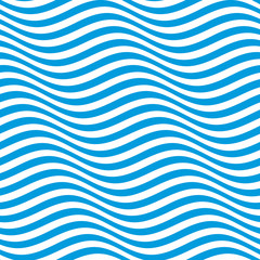 Op art waves. Optical illusion striped seamless pattern.